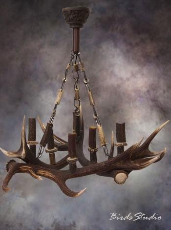 Люстра из натуральных рогов оленя